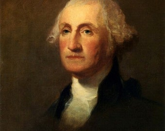 George Washington by Thomas Sully the American President,  1783-1872 8x10 canvas art print