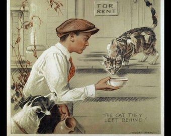 Be-kind-to-animals-vintage-poster-Morgan Dennis, American-Society Prevention-of-Cruelty-to-Animals-. pets, animal cruelty awareness poster