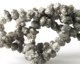 Rough Diamond Beads, Grey Rough Diamonds Your Choice of 1, 2, 3, 4, 5, or 10 Diamonds, Luxe Uncut 3.5 to 4.5mm KJ