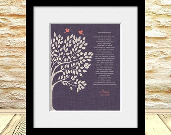 Parents Gift, Personalized Thank You Gift for Parents, Anniversary Gift, Brides Parent Gift, Poem for Mom and Dad, Grooms Parent Gift