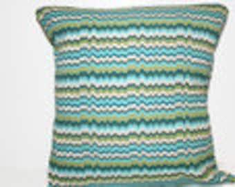 Pillow, Throw Pillow Cover, Decorative Pillow Cover Chevron Zig Zag Print  Outdoor 12x16, 16x16