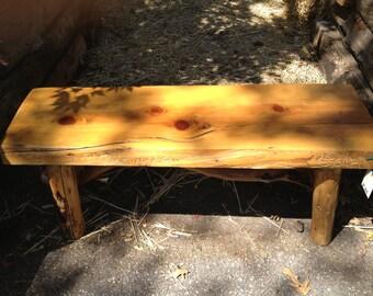 3ft Indoor/Outdoor Pine Bench