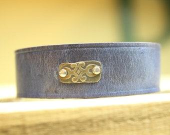Leather cuff bracelet, handmade leather bracelet, handmade leather cuff, jewelry, handmade jewelry, unique handmade jewelry, leather cuff