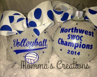 Personalized volleyball ornament, volleyball ornament, volleyball gift, volleyball coaches