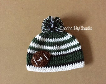 Crochet Philadelphia Eagles Inspired Beanie/ Photography Prop/ Made to Order