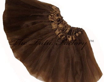 BROWN TUTU . Girls Teens Adults Plus Sizes SHORT Ballet Tutu Skirt