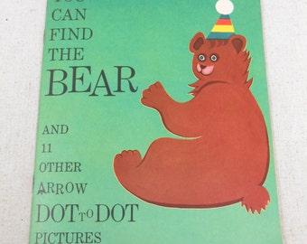 Vintage 1959 Platt & Munk Educational Activity Arrow Dot to Dot Book New Never Used.