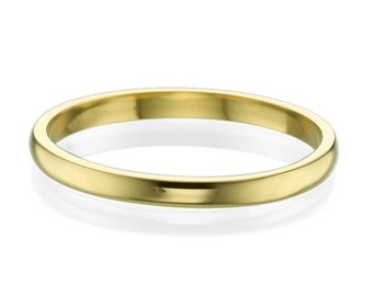 2mm Classic Wedding Engagement Band in 14k Yellow Gold