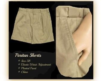 vintage men's shorts,men's chino shorts, casual shorts, men's brown shorts, Size 38,    # 123