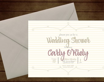 Printable Bridal Wedding Shower Invitation-Print Yourself-Digital Invite