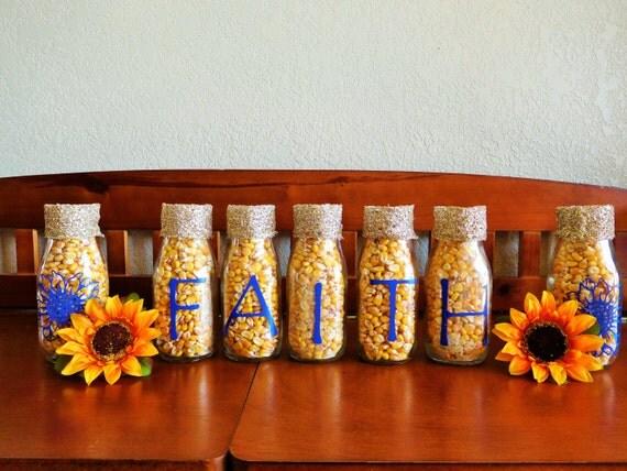 Faith and sunflowers faith decor rustic jars by for Faith decor