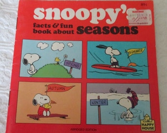 Snoopy's Book About Seasons