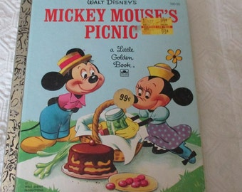 A Little Goldden Book Mickey Mouce's Picnic
