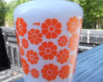 Vintage Retro Orange Daisies Candle Lamp Shade