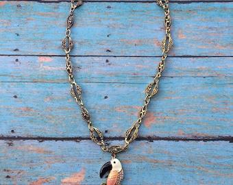 Pastel Toucan Necklace