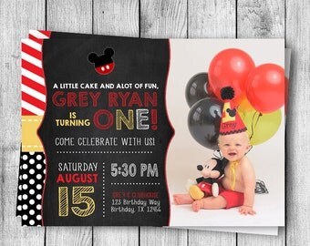Mickey Mouse Birthday Invite - 5x7