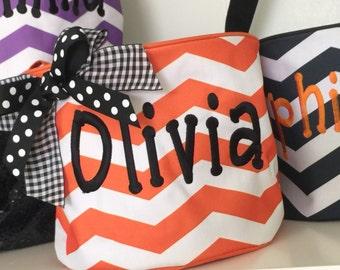 Trick or Treat Bucket/Halloween Bucket/Halloween Bag/Trick or Treat Bag/Trick or Treat Tote/Halloween/Monogrammed Halloween Bucket