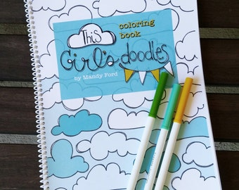 This Girl's Doodles Adult Coloring Book