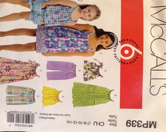 McCall's MP339 dreses, tops,  pants and shorts in sizes 7-14