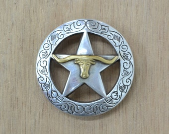 "Western Longhorn Concho hardware 1 1/2"" Conchos saddle conchos 11602"