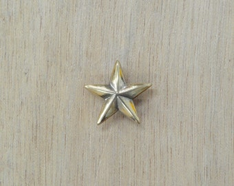 """Leather hardware 3/4"""" Antique Gold Star Concho NEW 65147"""