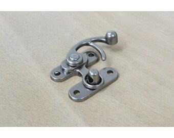 """1 1/4"""" Antique Nickel Plated Lock Purse Fastener Latch Renaissance Hardware -55555"""