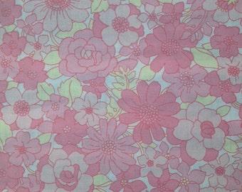 Vintage floral fabric fat quater