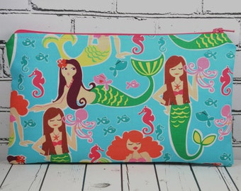 Mermaid Pencil Case, Small Makeup Bag, Toiletry Bag, Cosmetic Bag, School Supplies, Girl's Pencil Case