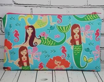 Mermaid Pencil Case, Small Makeup Bag