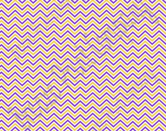 Purple, yellow gold and white mini chevron craft  vinyl sheet - HTV or Adhesive Vinyl -  zig zag pattern HTV1561