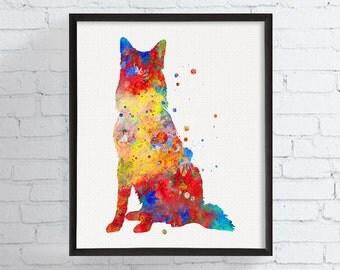 Belgian Malinois Art Print, Watercolor Belgian Shepherd, Belgian Shepherd Art Print, Belgian Shepherd Poster, Dog Lover Gift, Dog Art Print