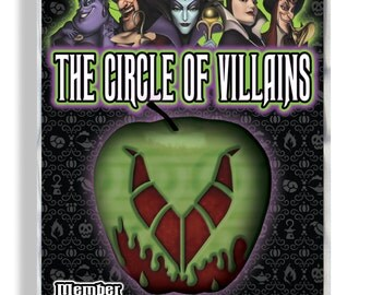 The Circle of Villains Custom Member Name Badge