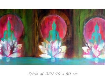 """POSTER """"Spirit of ZEN"""" 16 x 24 """"  Buddha Zen Asia Om"""