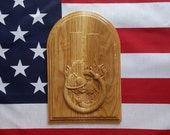 911 TWIN TOWERS Fireman Decor ~ Firefighter ~ Gift for Fireman ~ Fireman Decor ~ Oak Hardwood ~ 11x7 Inch ~ Fireman Retirement Gift ~ Plaque