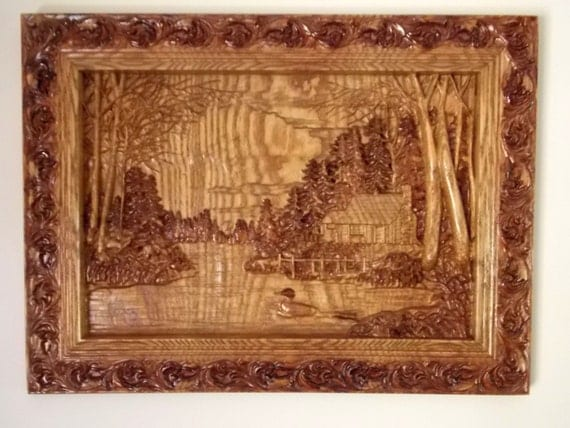 Cabin Wall Art cabin wall decor wood carving wall art wood wall art cabin
