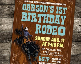Birthday Rodeo Invitation