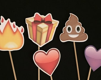 Emoji Fun Photo Booth Props