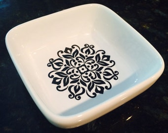 Jewelry Dish with Mandala Design