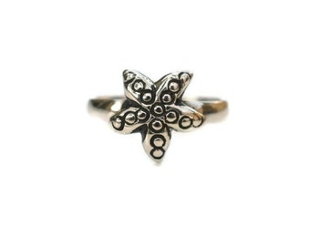 Silver Starfish Toe Ring - Sterling Silver Starfish Toe Ring - Ocean Toe Ring - Star Fish Toe Ring