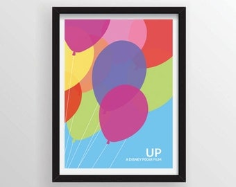 Up Minimalist Poster - A3 and 13 x 19 Available