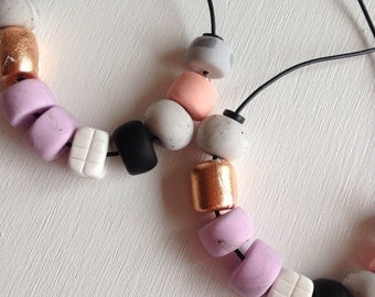 Polymer Clay necklace, Katie