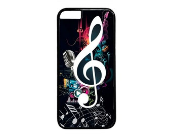 Music Clef Treble New Fashion Black Case Cover for iPhone 4s 5 5s 5c 6 6s 6 Plus Black  iPod Touch case
