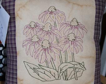Beautiful Echinacea Flower Pillow