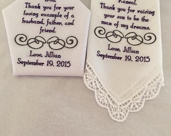 2 Personalized handkerchiefs
