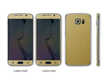 Samsung Galaxy S6 Edge+ Plus Two Full Body Wrap DECAL Sticker Skin Kit Metal series by Stickerboy - Set 2