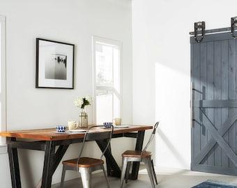 Custom Built Rustic Bottom X Sliding Barn Door
