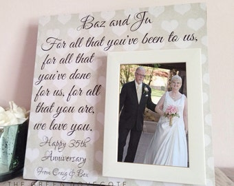 Anniversary Gift - 50th Anniversary Gift - Anniversary Gift For Parents - Personalized Grandparents Gift - Grandparents Picture Frame