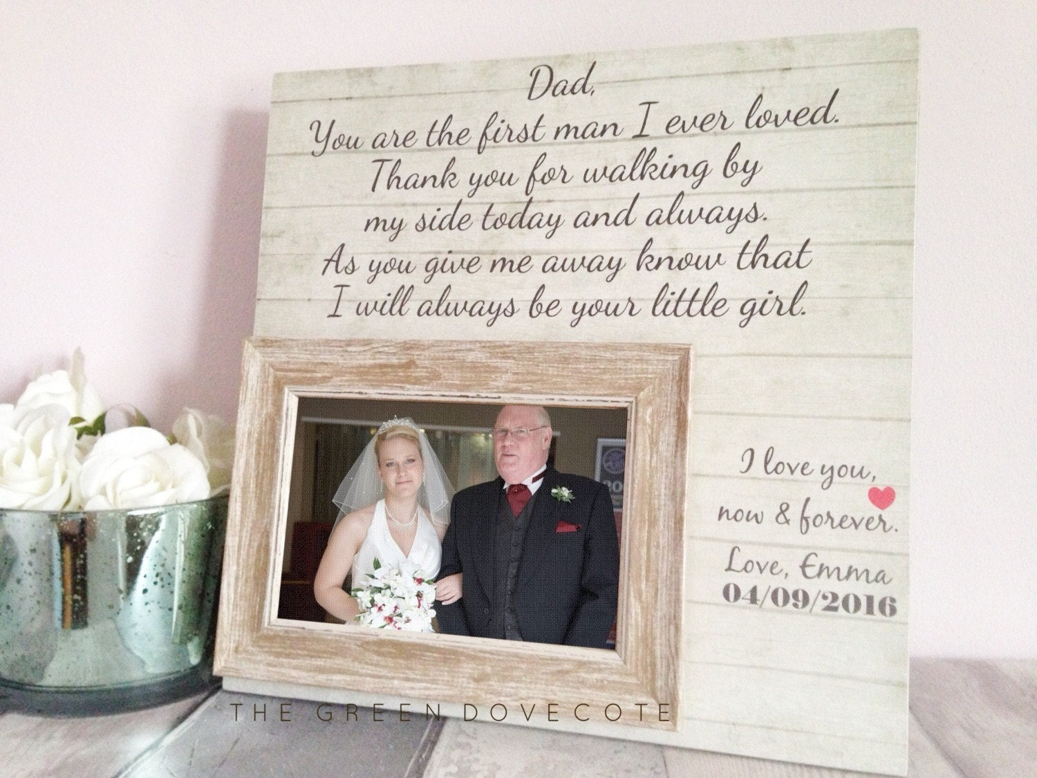 Perfect Wedding Gift For Bride: Father Of The Bride Gift Custom Wedding Sign Wedding Gift