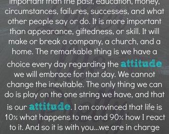 16X20 Attitude Inspirational Digital Image Home Decor Printables