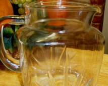 Federal Glass Juice Pitcher Retro Pitcher Milk Pitcher from the 50's